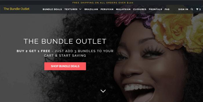 bundle outlet hair website