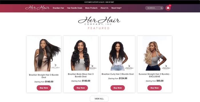 Her Hair Company Website