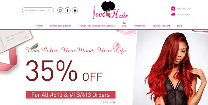 Isee Hair Official Website