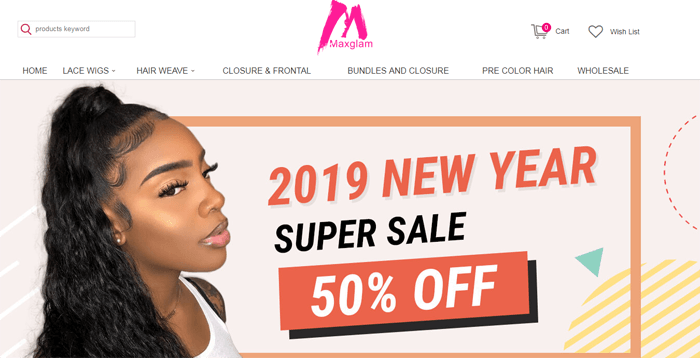 maxglam hair website