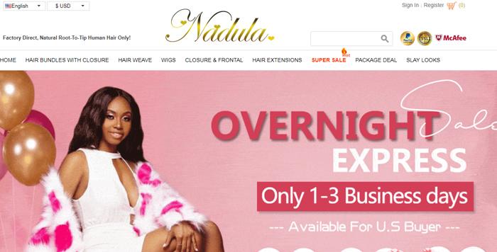 Nadula Hair Official Website
