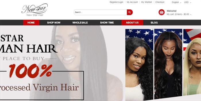 new star hair webiste