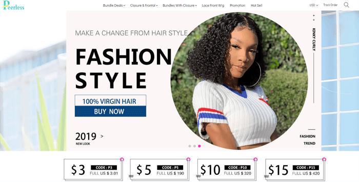 peerless virgin hair website