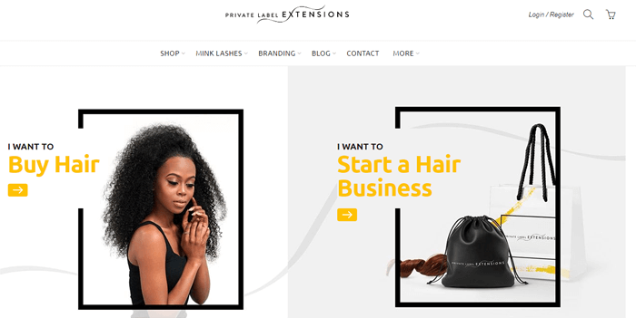 Private Label Extensions Official Website