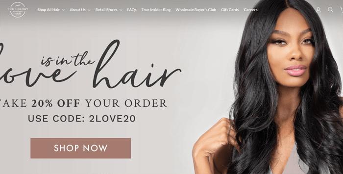 True Glory Hair Website