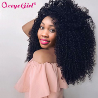 Afro Kinky Curly Hair Bundles Human Hair Bundles Brazilian Hair Weave Bundles 1/3/4 Pcs Remy Hair Bundles Oxeye girl