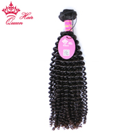 Queen Hair Products Kinky Curly 1 Piece Brazilian Virgin Hair 12