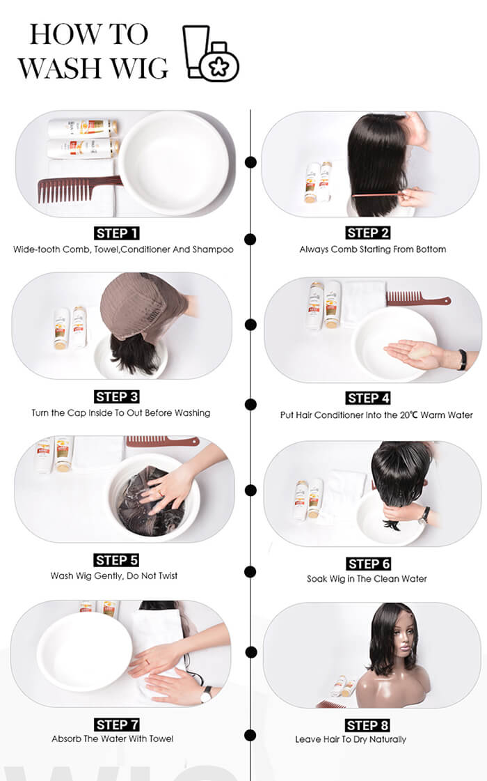 How to wash wig