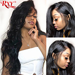 RXY 360 Lace Frontal Wig Pre Plucked With Baby Hair 250 Density Lace Wig Brazilian Body Wave Lace Front Human Hair Wigs RemyHair