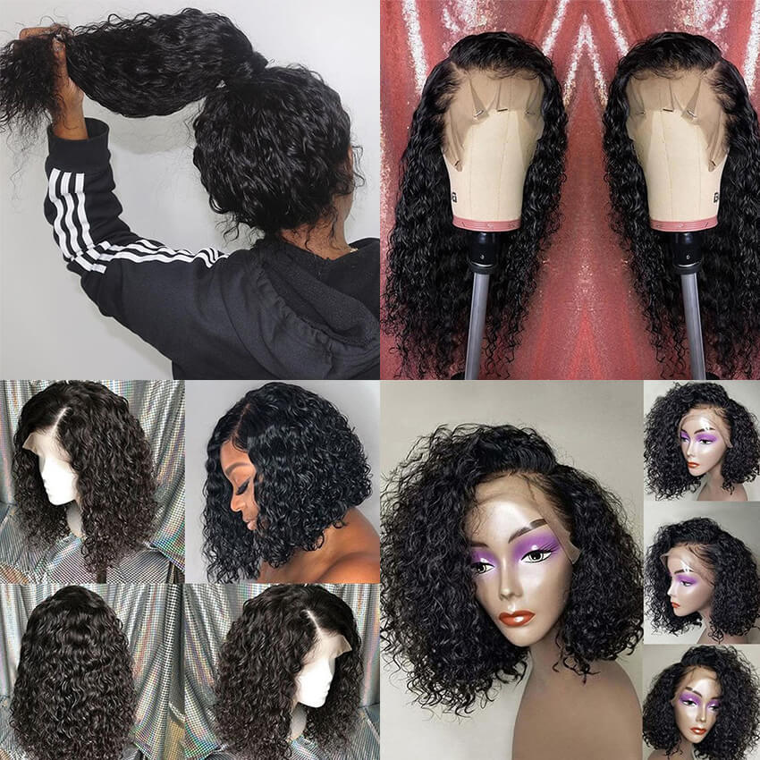 Dolago Fake Scalp Lace Frontal Human Hair Wig With Baby Hair