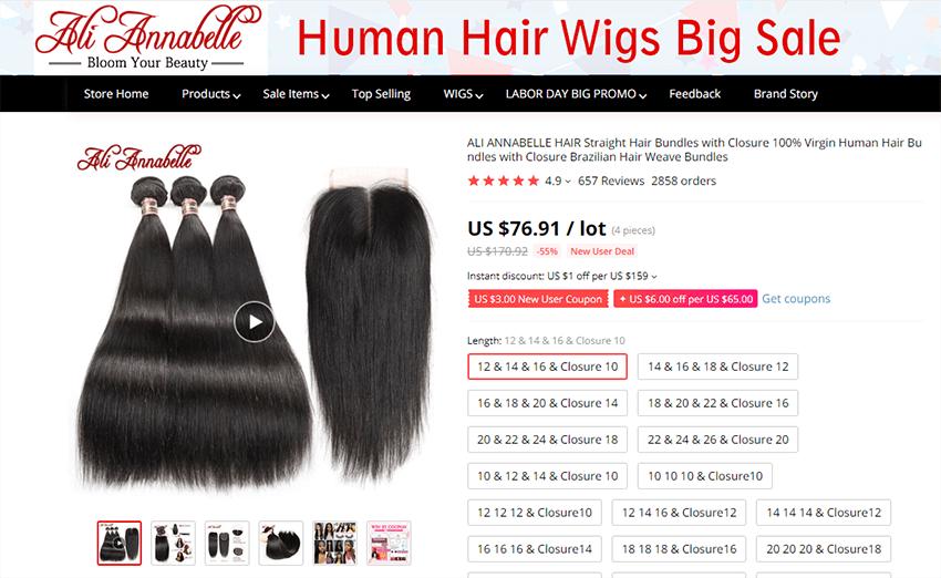 ali annabelle hair product