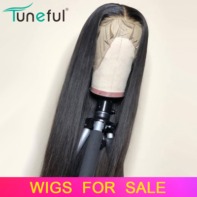 Tuneful Lace Front Human Hair Wigs Straight Pre Plucked Hairline Baby Hair 8-26 Inch 13x4 150% Malaysian Remy Human Hair Lace Front Wigs