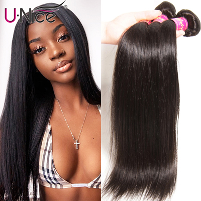 UNICE HAIR Peruvian Straight Hair Bundles Natural Color 100% Human Hair Extensions 8-30 Remy Hair Weave 1 PC Black Friday Deals