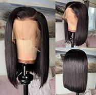 Julia Short Bob Lace Front Wig Natural Color Brazilian Straight Human Hair Wig