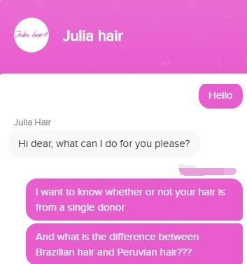 julia hair live chat