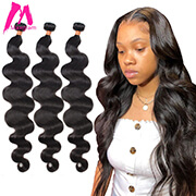 Brazilian Human Hair Weave Bundles Extension Body Wave Extensions 8 to 30 inch Long Natural for Black Women Remy 1 3 4 Bundles