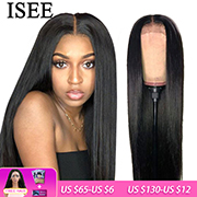 ISEE HAIR Straight Lace Front Human Hair Wigs For Women 13X4 Lace Frontal Wigs Human Hair Malaysian Straight Lace Closure Wig