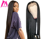 Lace Front Human Hair Wigs Short Straight 28 30 40 inch Brazilian Natural Frontal Wig Full hd Pre Plucked Cheap For Black Women