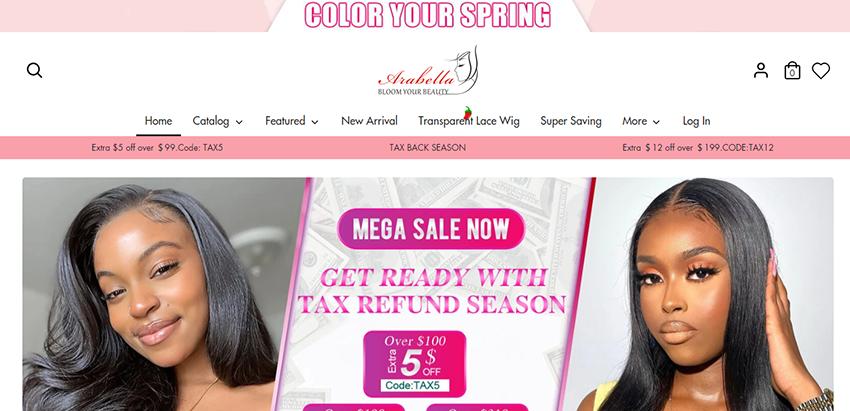 Arabella hair website