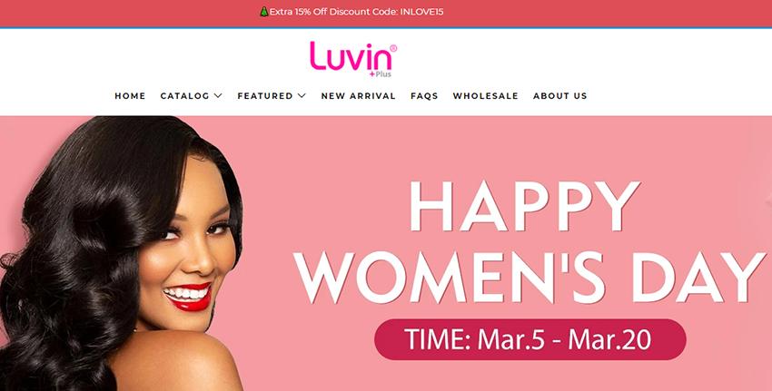luvin hair shop website
