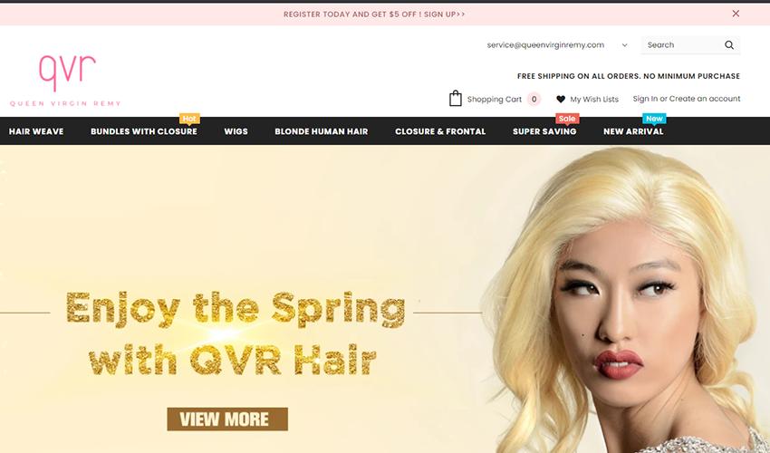 queen virgin remy website